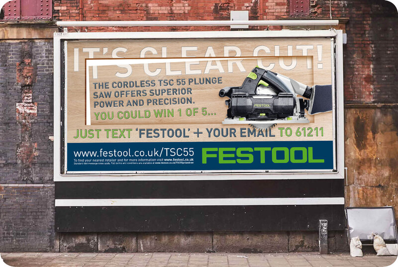 48 sheet poster promoting Festool competition by Drydesign