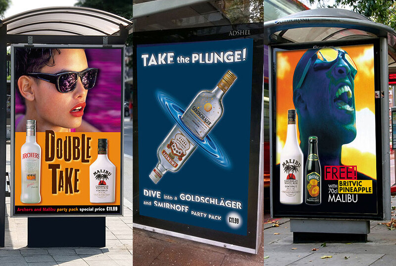 Series of ads for Diageo in Dublin by Drydesign