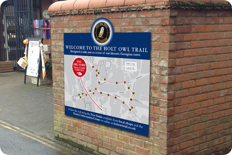 Holt Owl Trail sign by Drydesign