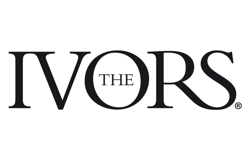Brand logo for The Ivors songwriters and music composers awards by Drydesign