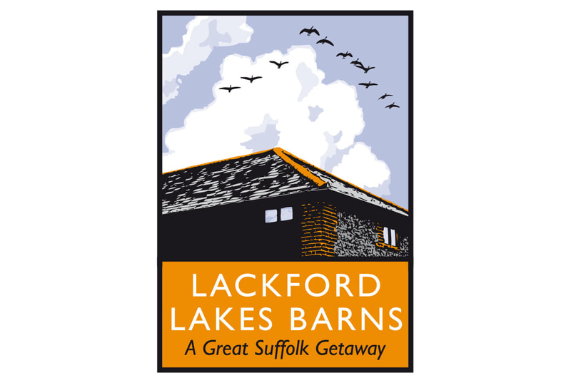 Brand logo for Lackford Lakes Barns by Drydesign