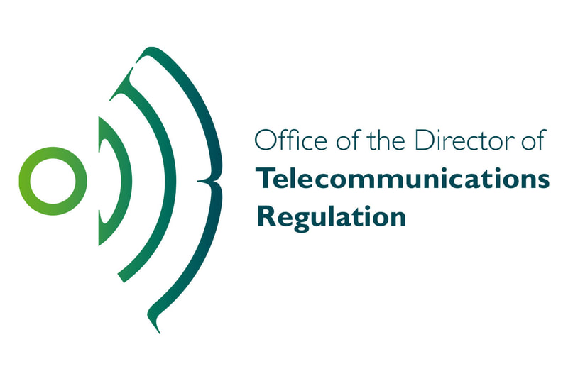 Corporate logo for the Office of the Director of Telecommunications Regulation in Ireland by Drydesign