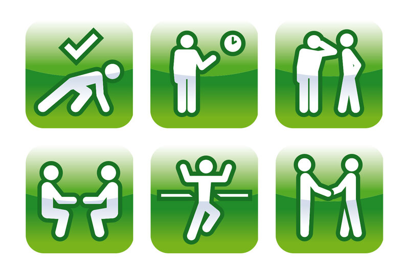 Pictograms for use in XL Veterinary Group feedback forms by Drydesign