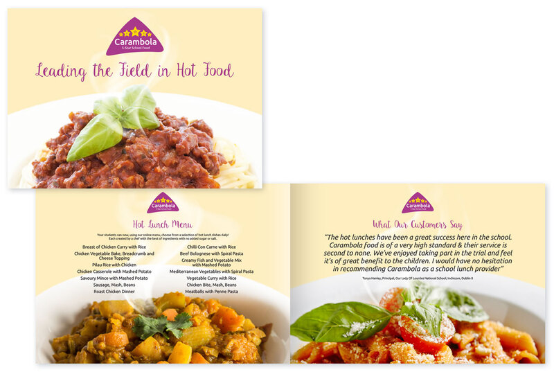 Brochure for Carambola hot school food by Drydesign