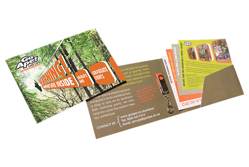 Folder and inserts for Go Ape Corporate Events by Drydesign