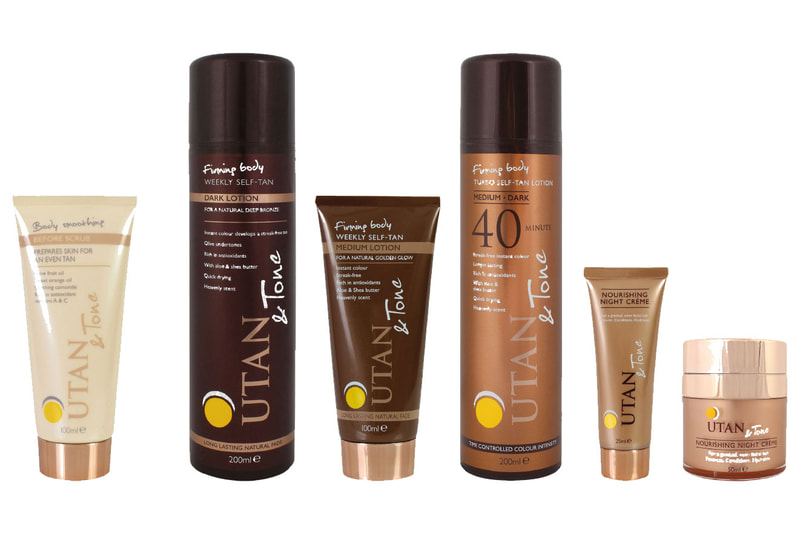 Tub, tube and can packaging design for UTAN & Tone beauty products by Drydesign