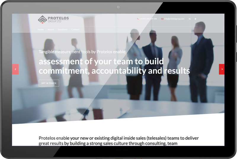 Website for Protelos Group by Drydesign